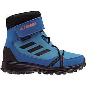 adidas TERREX Snow High Shoes Kids bright blue/core black/hi-res orange